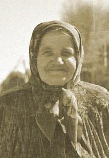 бабушка в платке