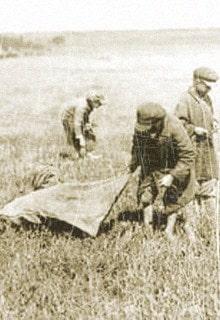 дети с мешком в поле