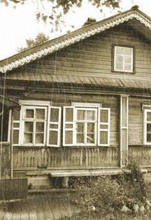 деревенский дом со ставнями