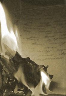 горящее письмо