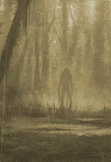 криповое существо в лесу