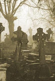 жуткое кладбище