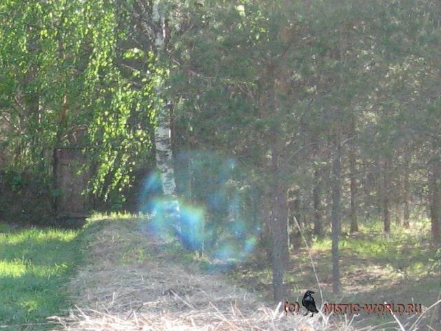 голубой прозрачный шар
