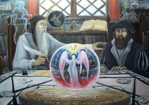алхимики с хрустальным шаром