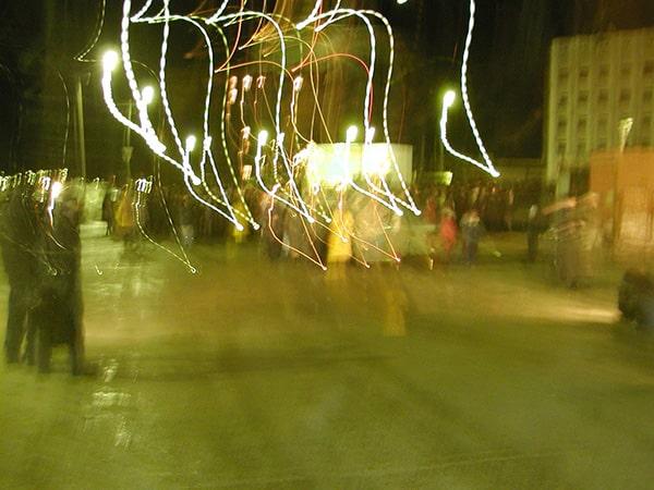 мистические огни на фото