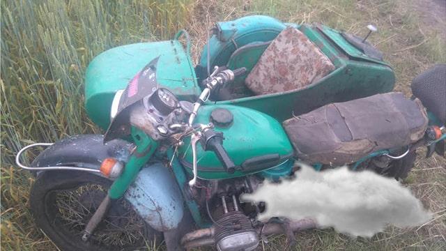 мотоцикл и облачко