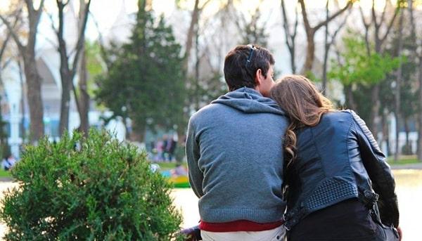 пара в парке